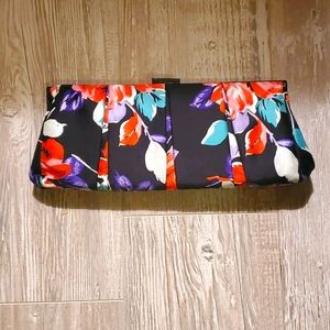 NWT Express Floral Clutch